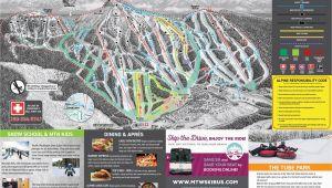 Canada Ski Resort Map Trail Map Mount Washington