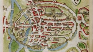 Canterbury Map England A Historic Map Of Canterbury by Anonymous British Library