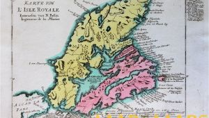 Cape Breton Canada Map Cape Breton Canada L isle Royale by Berlin Schwabe 1756