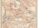 Cardiff England Map 1910 Gloucester United Kingdom Great Britain Antique Map