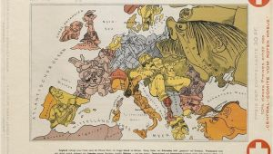 Caricature Map Of Europe 1914 Cartoon Map Of Europe 1914 950×705 Mapporn