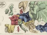 Caricature Map Of Europe 1914 Pin by Lili Shane On Anthropomorphic Maps Map Art Map