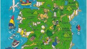 Cartoon Map Of Ireland 225 Best 10010 Caricature Cartoon Maps Images In 2019 Map Travel