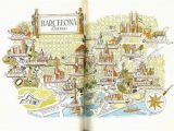 Cartoon Map Of Spain Barcelona Map Print Vintage City Of Barcelona Spain Map World