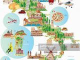 Cartoon Map Of Spain Travel Infographic Travel and Trip Infographic Cartoon Map Of