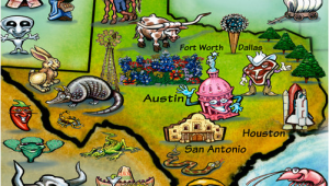 Cartoon Map Of Texas Texas In A Nutshell All Things Texas Texas Independence Day