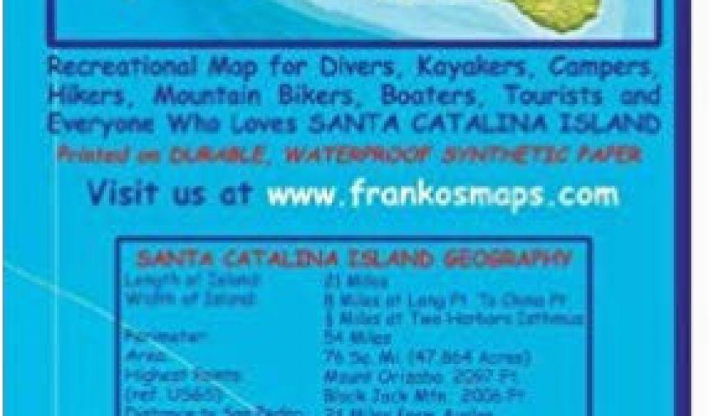 Catalina Island California Map on