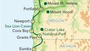 Caverns In California Map Map oregon Pacific Coast oregon and the Pacific Coast From Seattle