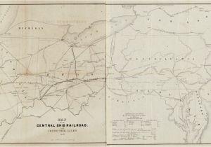 Map Of Georgia Railroads.Central Of Georgia Railroad Map Confederate Railroads In The