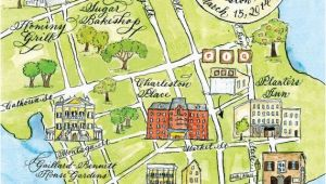 Charleston oregon Map Watercolor Wedding Map Charleston by Robyn Love Products