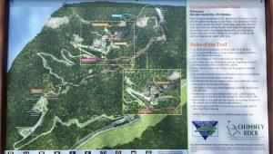 Chimney Rock north Carolina Map Chimney Rock State Park Trail Map Chimney Rock north Carolina