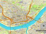 Cincinnati Ohio On Us Map Cincinnati Ohio Us Printable Vector Street City Plan Map Full