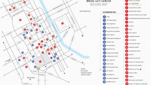 City Map Of Nashville Tennessee Walking Map Nashvillemusiccitycenter Com