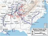 Civil War Sites In Georgia Map Western theater Of the American Civil War Wikipedia