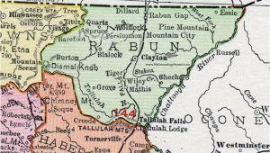 Clayton Georgia Map Rabun County Georgia 1911 Map Rand Mcnally Clayton Mountain