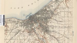 Cleveland Ohio Street Map Ohio Historical topographic Maps Perry Castaa Eda Map Collection