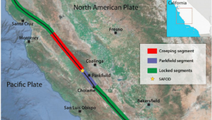 Coalinga California Map Map Of Earthquakes In California Location Map Of the San andreas