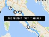Coast Of Italy Map the Best Italy Itinerary 3 Weeks or Less Places I Want to Go