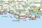 Coast to Coast Walk England Map south West Coast Path Dorset Jurassic Coast