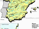 Coastal Map Of Spain Rivers Lakes and Resevoirs In Spain Map 2013 General Reference