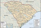 Colonial Map Of north Carolina State and County Maps Of south Carolina