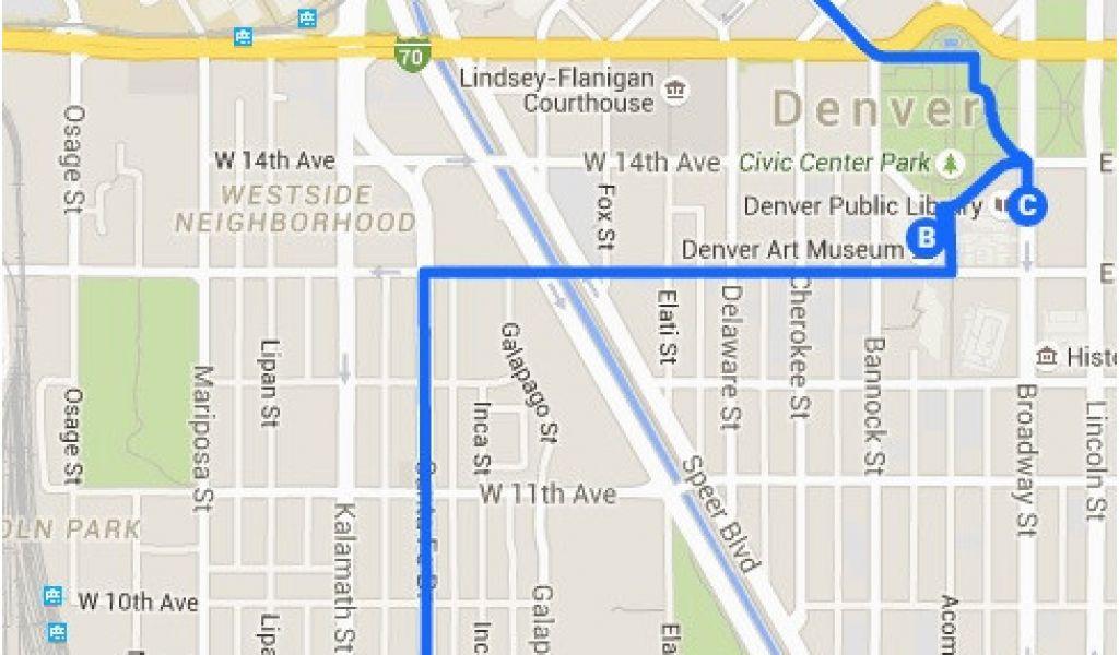 on denver art museum map
