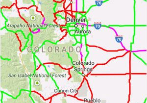 Colorado Road Conditions Map Colorado Dot Road Conditions Map Road Conditions Speeds Travel