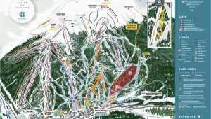 Colorado Map with Ski Resorts Copper Winter Trail Map