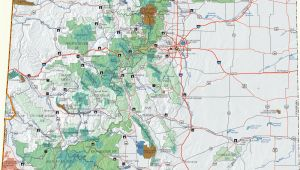 Colorado National forest Maps Colorado Dispersed Camping Information Map