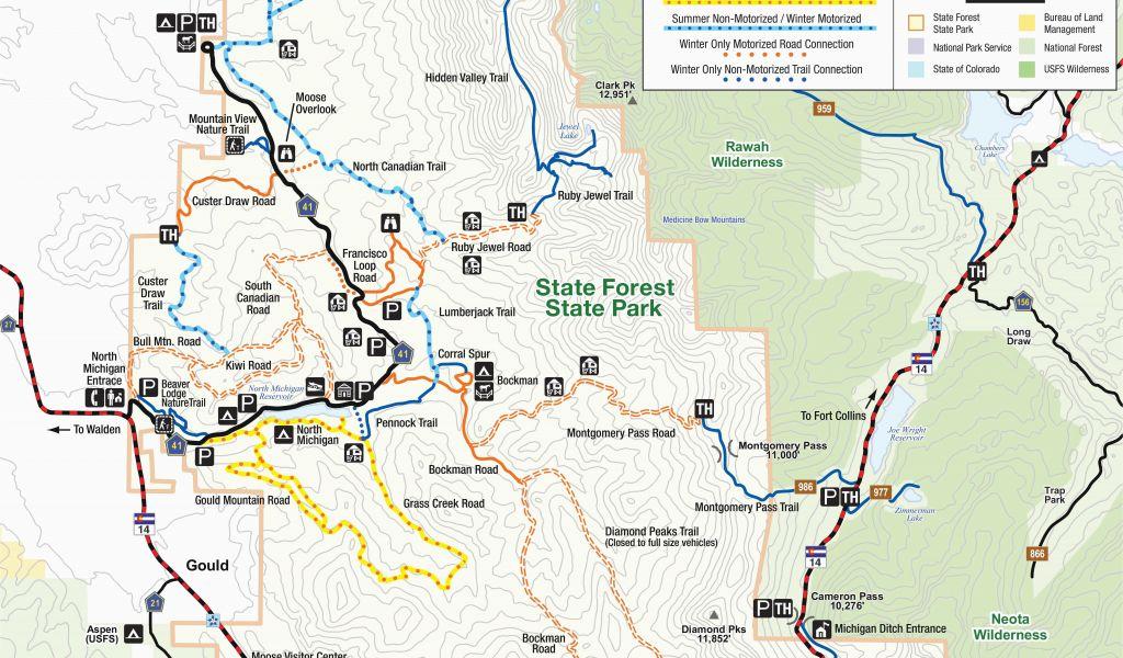 Colorado National forest Maps Colorado National forest Map ...