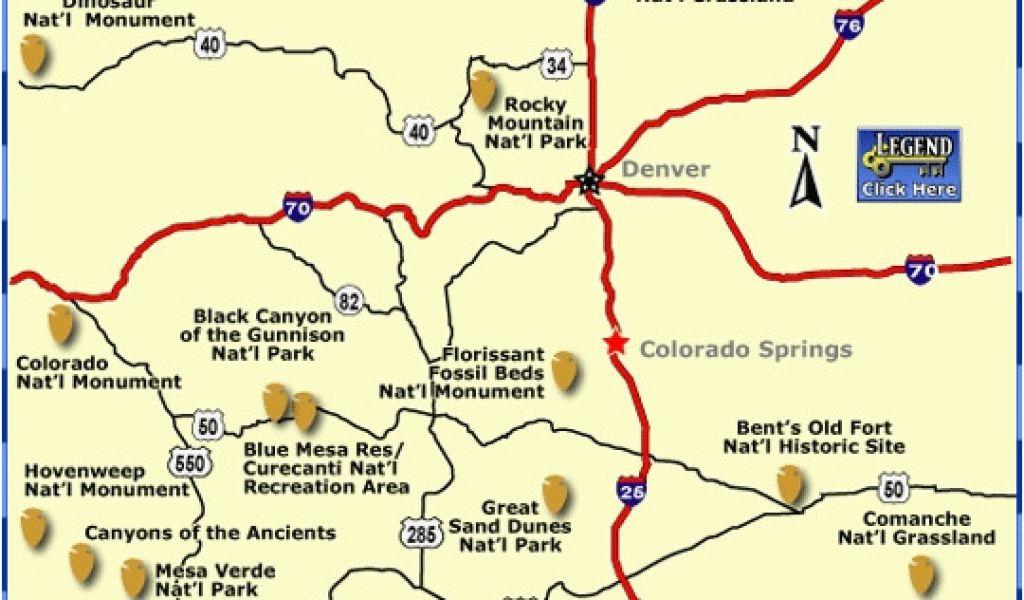 Colorado National Monument Map Colorado National Parks Map New ...