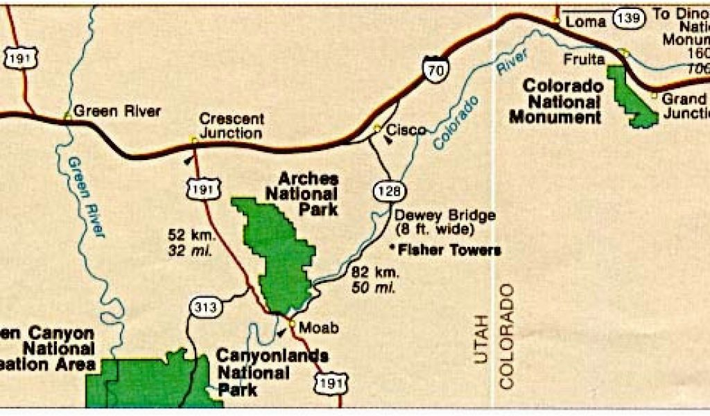 Colorado National Monument Map Maps Of United States National Parks ...