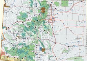 Colorado Passes Map Colorado Dispersed Camping Information Map