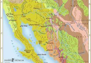 Colorado River Map Arizona sonoran Desert sonoran Desert Region