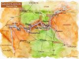 Colorado River Map Grand Canyon Map Of Sites Near Grand Canyon Grand Canyon Regional Map Grand