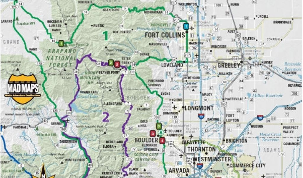 Colorado Scenic byways Map Colorado Scenic Drives Map Printable Map ...