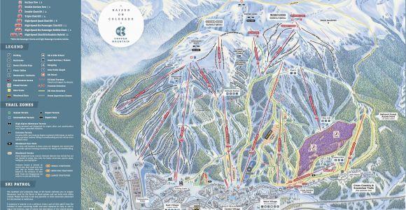 Colorado Springs Ski Resorts Map Copper Mountain Resort Trail Map Onthesnow