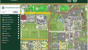 Colorado State University Campus Map top Colorado State University Map Galleries Printable Map New