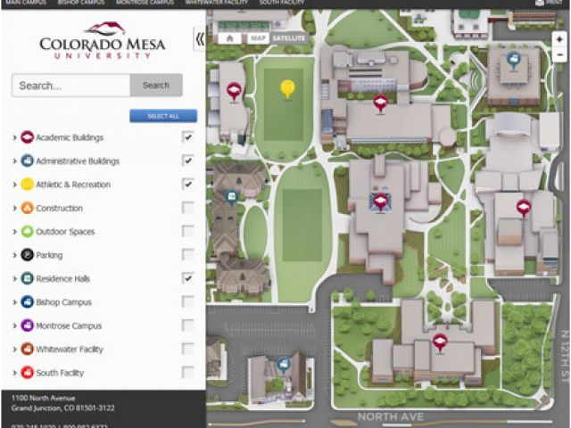 Colorado State University Map Campus Maps Colorado Mesa University ...