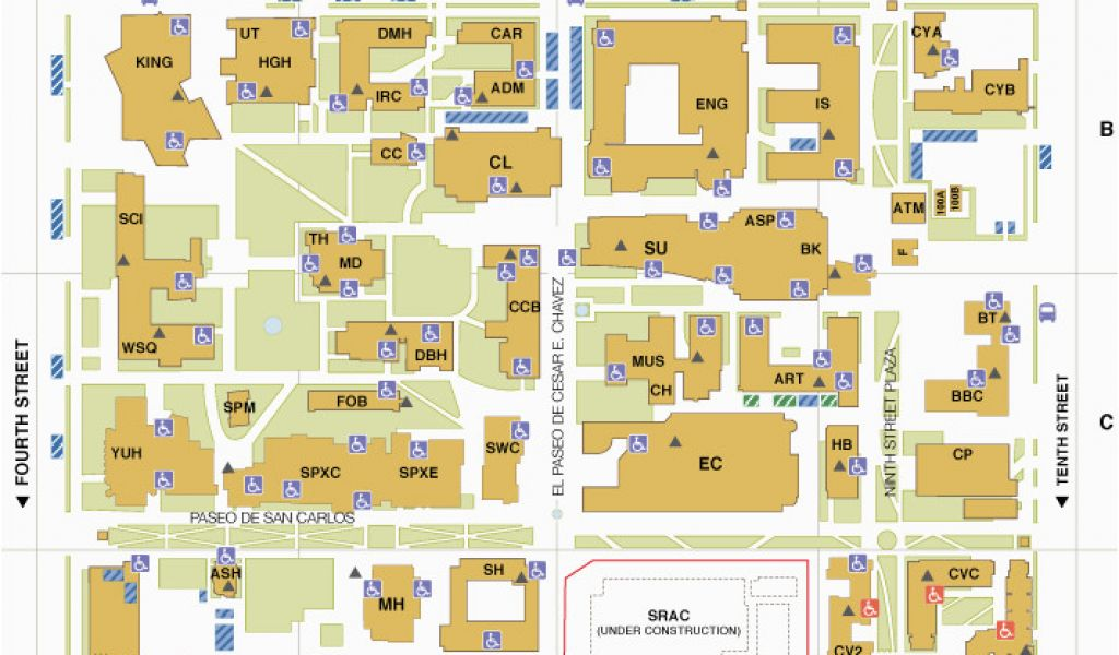 Colorado State University Maps Main Campus Map San Jose State ...