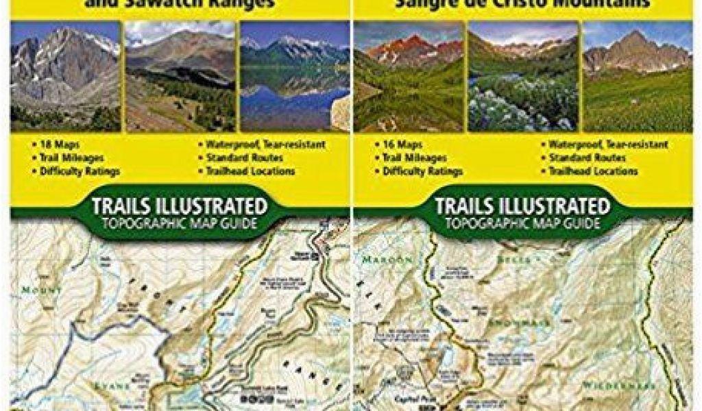 Colorado Trail Map Book Colorado 14ers topographic Trail Map
