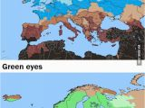 Colored Map Of Europe Europe by Hair Eye Color Maps Map Blue Eyes