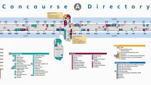 Columbus Ohio Airport Map atlanta Airport Terminal A Map