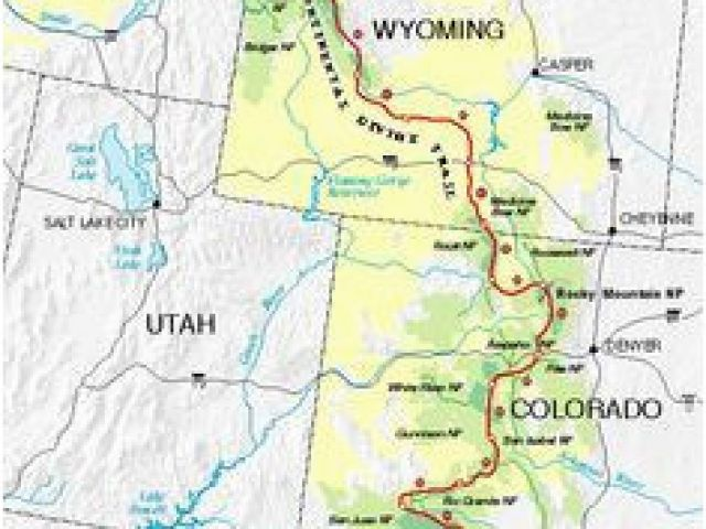 Continental Divide Map Colorado 44 Best Continental Divide ... on