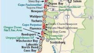 Coos Bay oregon Map Simple oregon Coast Map with towns and Cities oregon Coast In