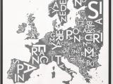 Copenhagen Map Of Europe Europe Map by Kortkartellet 50 X 70cm Wall Art Print
