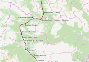 Cortina Italy Map Dolomitenbahn Wikipedia