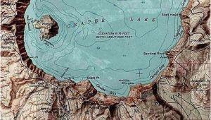 Crater Lake oregon Map A topographic Maps Crater Lake oregon Mt Mazama Aka Meg S