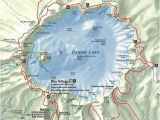 Crater Lake oregon Map oregon Volcanoes