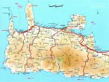 Crete On Europe Map Map Of Crete Click to Enlarge athens Crete Map Crete